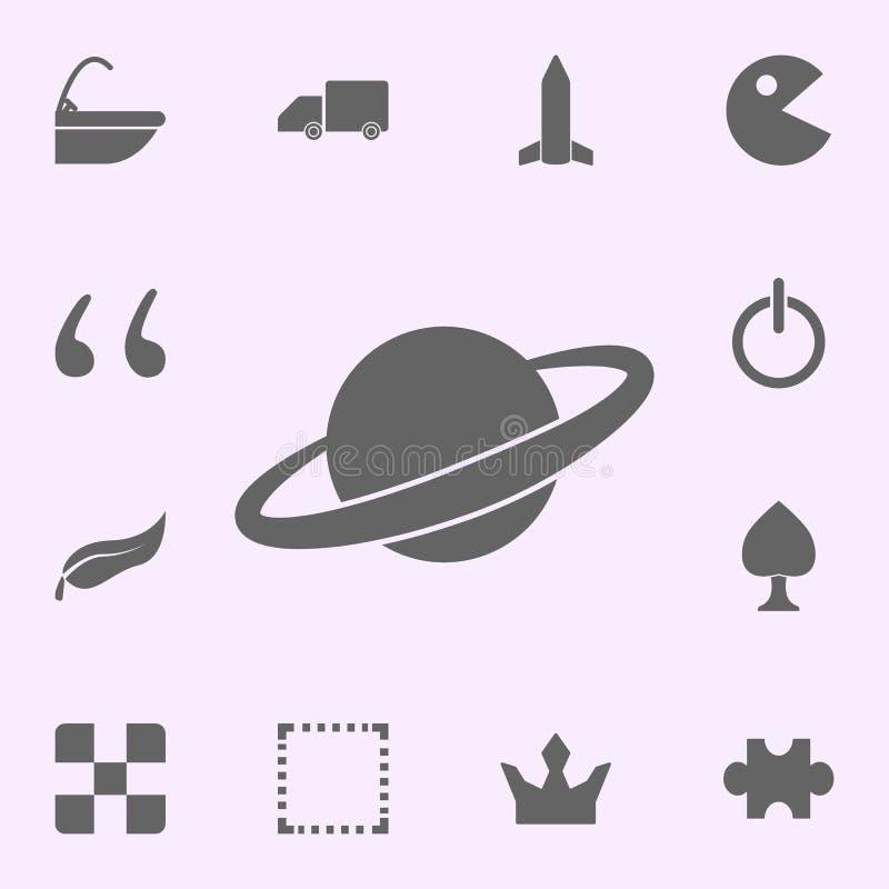 Icona di Saturn insieme universale delle icone di web per il web ed il cellulare illustrazione vettoriale