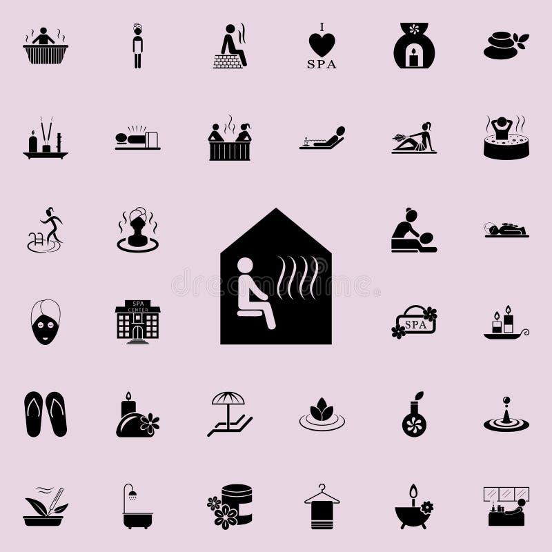 Icona di sauna Insieme dettagliato delle icone della STAZIONE TERMALE Segno premio di progettazione grafica di qualità Una delle  illustrazione vettoriale