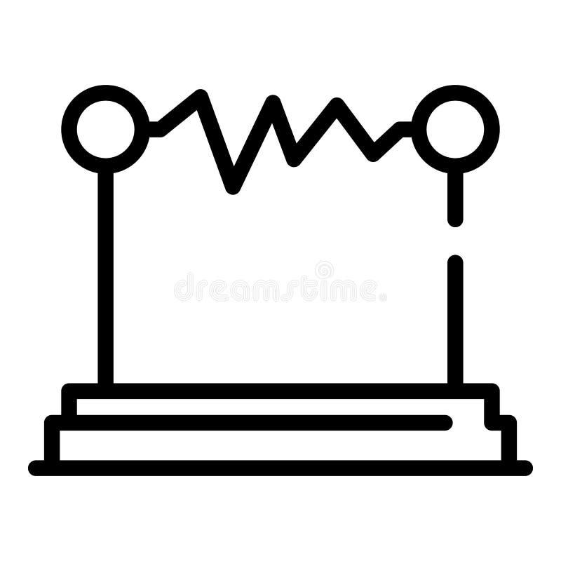 Icona di scarica elettrica, stile del profilo illustrazione di stock
