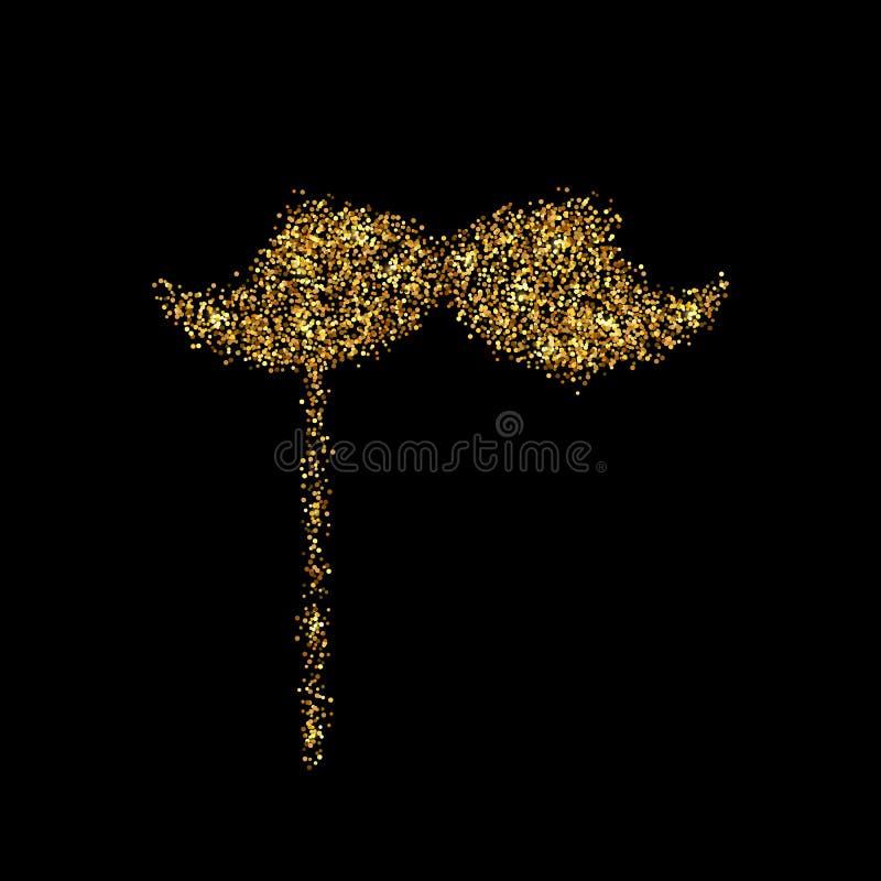 Icona di scintillio dell'oro royalty illustrazione gratis