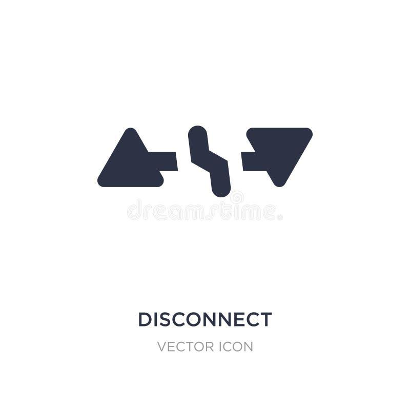 icona di sconnessione su fondo bianco Illustrazione semplice dell'elemento dal concetto di UI illustrazione di stock