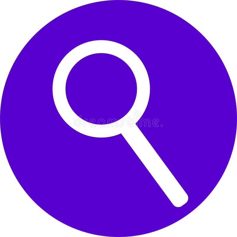 ICONA DI SEARCING PER IL CONTENUTO WEB immagini stock