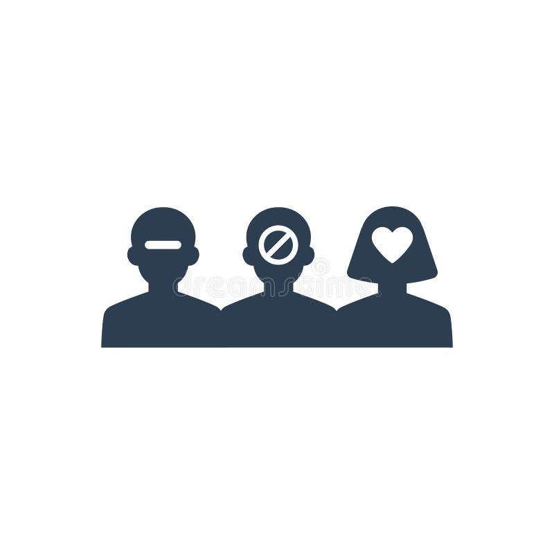 icona di selezione degli impiegati illustrazione vettoriale
