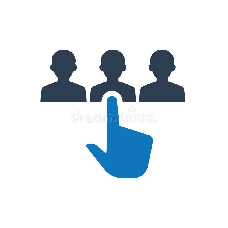 icona di selezione degli impiegati illustrazione di stock