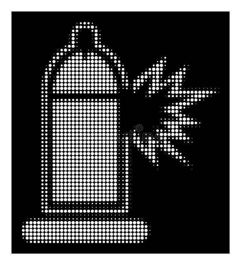 Icona di semitono bianca di danno del pene del preservativo illustrazione vettoriale