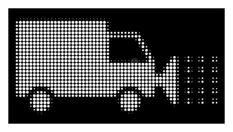 Icona di semitono bianca dell'automobile di lavaggio della via illustrazione vettoriale