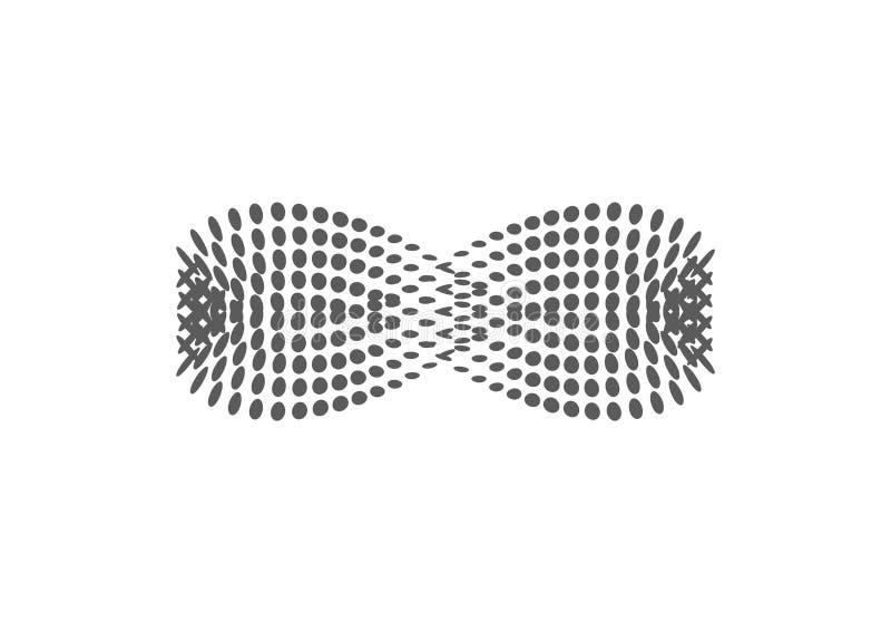 Icona di semitono di vettore di infinito Lo stile dell'illustrazione è simbolo iconico punteggiato dell'icona dell'infinito su un royalty illustrazione gratis