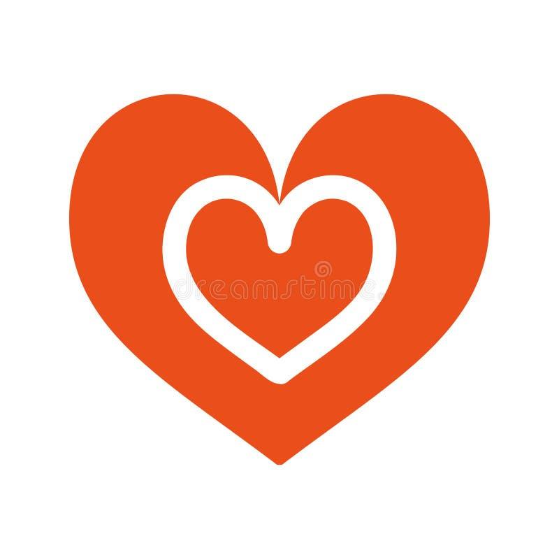 Icona di sensibilità romantica di amore del cuore bella royalty illustrazione gratis