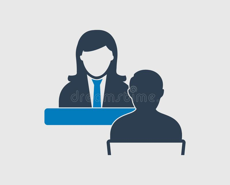 Icona di servizio di assistenza al cliente illustrazione vettoriale