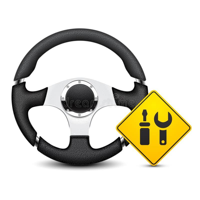 Icona di servizio dell'automobile fotografia stock libera da diritti