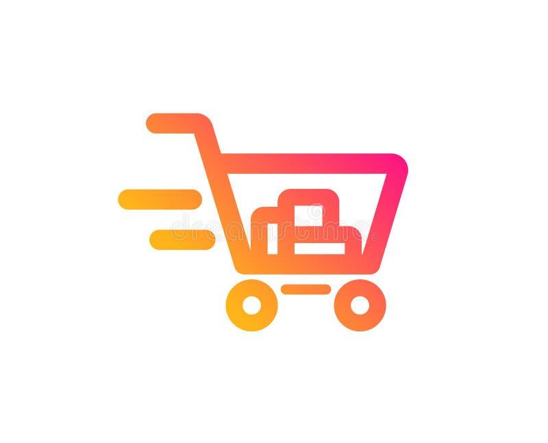 Icona di servizio di distribuzione Segno del carrello Vettore illustrazione di stock