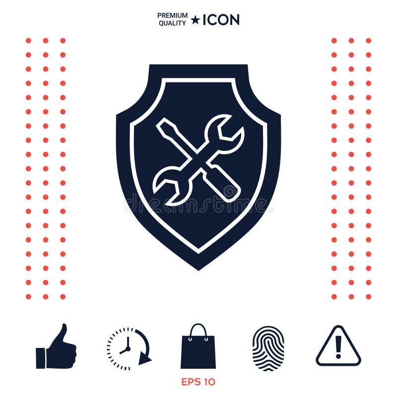 Download Icona Di Servizio - Schermo Con Il Cacciavite E La Chiave Illustrazione Vettoriale - Illustrazione di piano, siluetta: 117976741