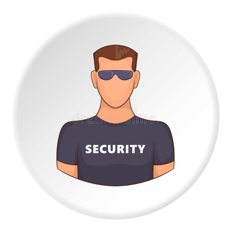 Icona di sicurezza, stile piano illustrazione vettoriale