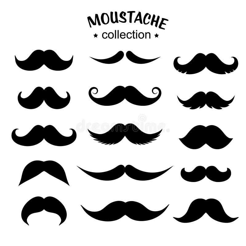 Icona di Silhouette Mustache royalty illustrazione gratis