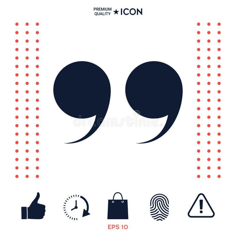 Download Icona Di Simbolo Di Citazione Illustrazione Vettoriale - Illustrazione di luce, segno: 117976539