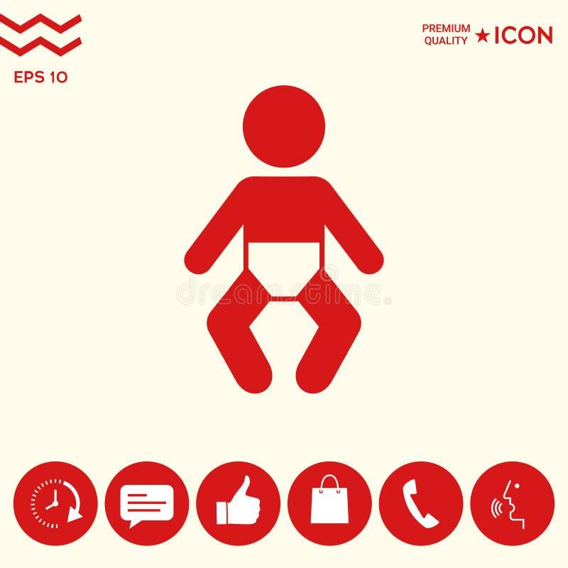 Download Icona Di Simbolo Del Bambino Illustrazione Vettoriale - Illustrazione di ragazza, cura: 117982143