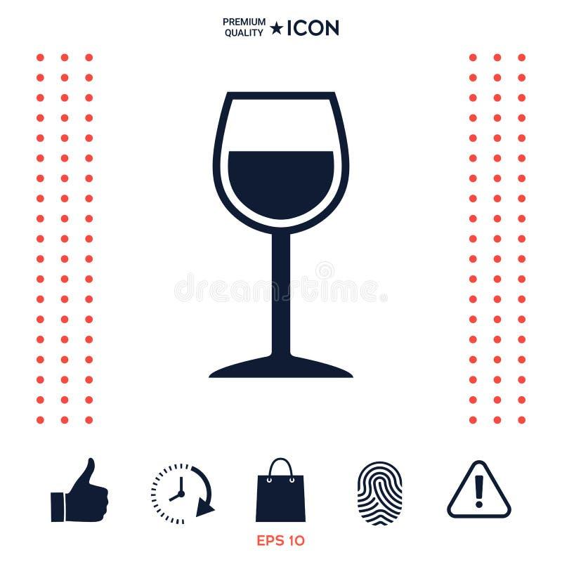 Download Icona Di Simbolo Del Bicchiere Di Vino Illustrazione Vettoriale - Illustrazione di cocktail, champagne: 117977595