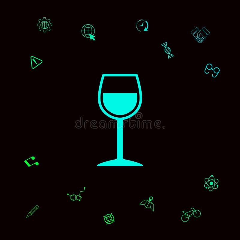 Icona di simbolo del bicchiere di vino Elementi grafici per il vostro designt illustrazione vettoriale
