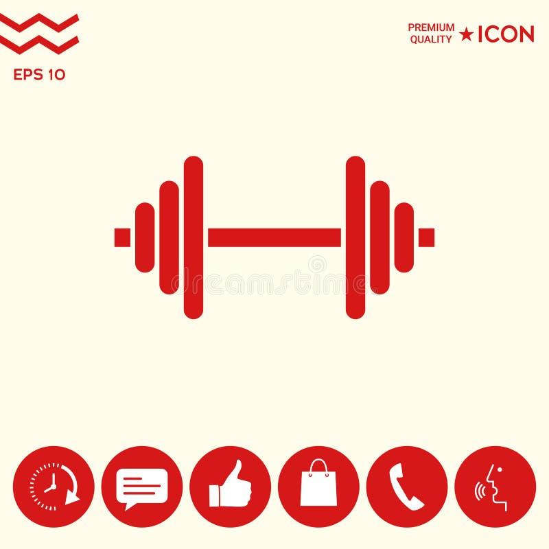 Download Icona Di Simbolo Del Bilanciere Illustrazione Vettoriale - Illustrazione di braccio, barbell: 117982162