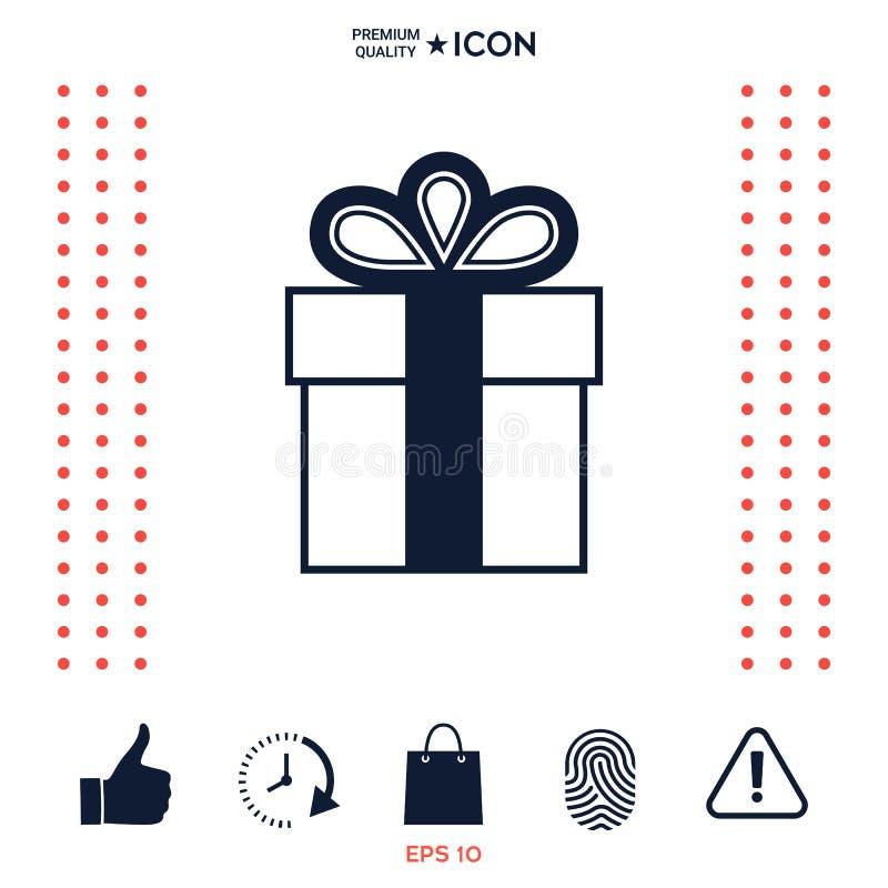 Download Icona Di Simbolo Del Contenitore Di Regalo Illustrazione Vettoriale - Illustrazione di stylish, evento: 117975138