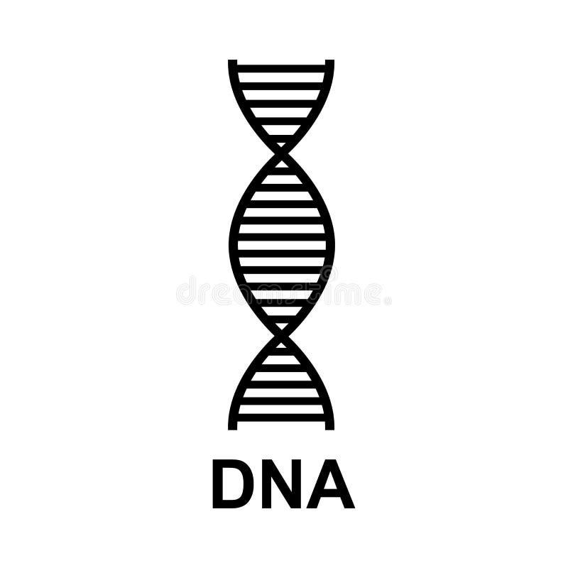 Icona di simbolo del DNA Elementi grafici per la vostra progettazione fotografie stock libere da diritti