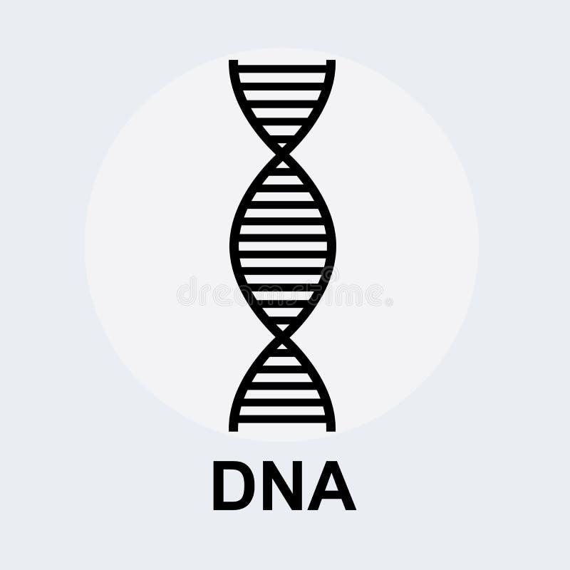 Icona di simbolo del DNA Elementi grafici per la vostra progettazione fotografia stock libera da diritti