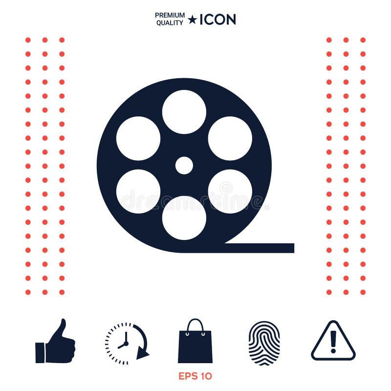 Download Icona Di Simbolo Del Film Della Bobina Illustrazione Vettoriale - Illustrazione di tecnologia, industria: 117976573