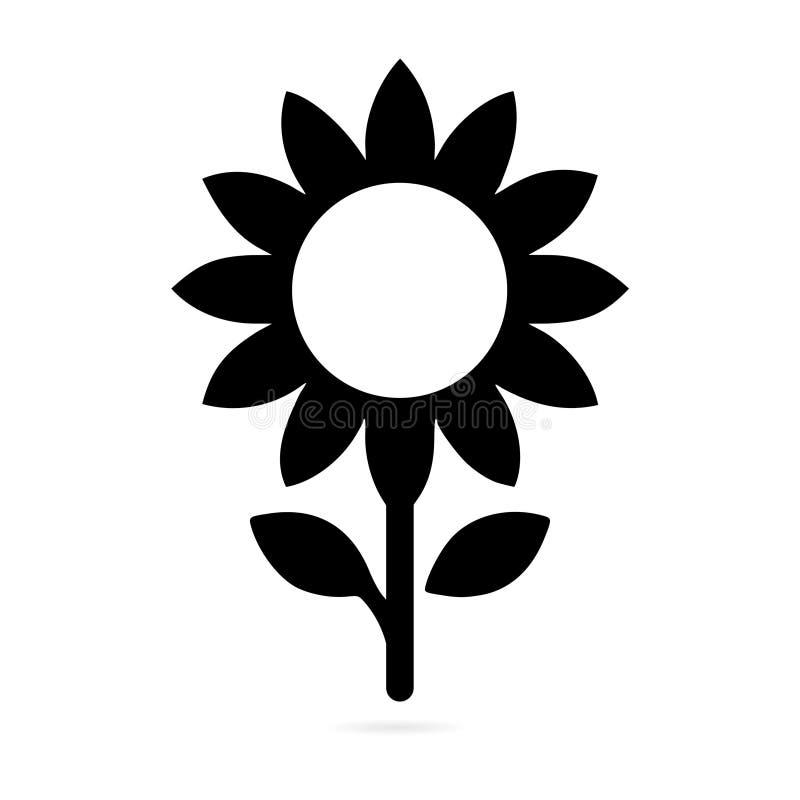 Icona di simbolo del girasole illustrazione vettoriale