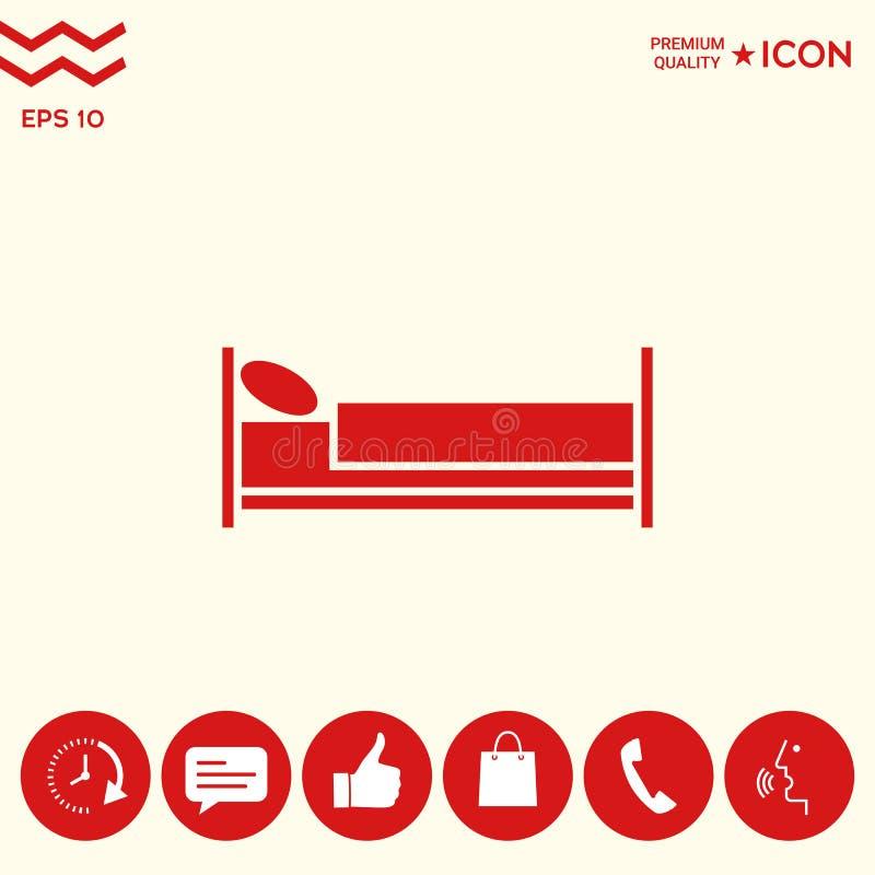 Download Icona di simbolo del letto illustrazione vettoriale. Illustrazione di illustrazione - 117982184