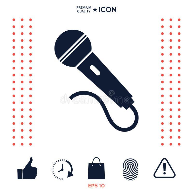 Download Icona Di Simbolo Del Microfono Illustrazione Vettoriale - Illustrazione di canti, karaoke: 117975974
