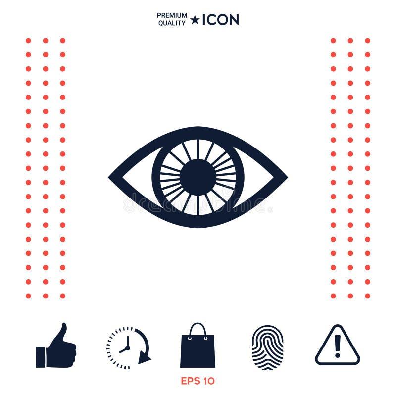 Download Icona Di Simbolo Dell'occhio Illustrazione Vettoriale - Illustrazione di estratto, anatomia: 117975011