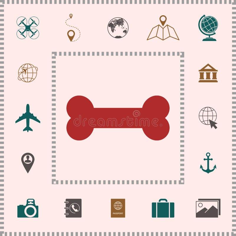 Icona di simbolo dell'osso illustrazione vettoriale