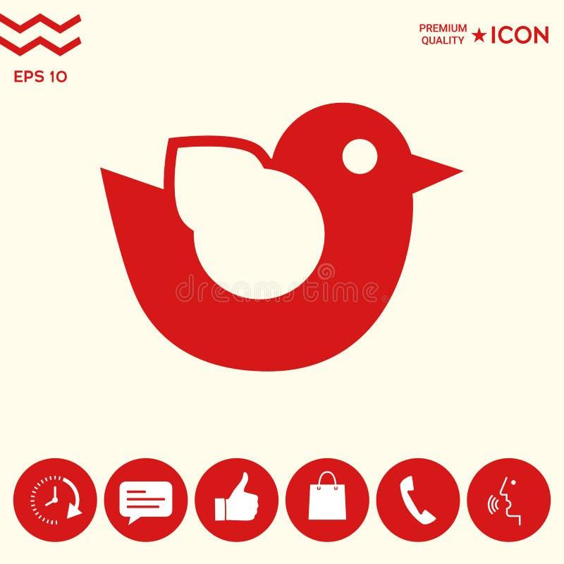 Download Icona Di Simbolo Dell'uccello Illustrazione Vettoriale - Illustrazione di segno, concetto: 117982200
