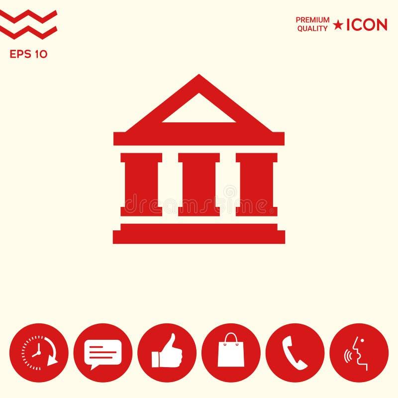 Download Icona Di Simbolo Della Banca Illustrazione Vettoriale - Illustrazione di valore, valuta: 117982178