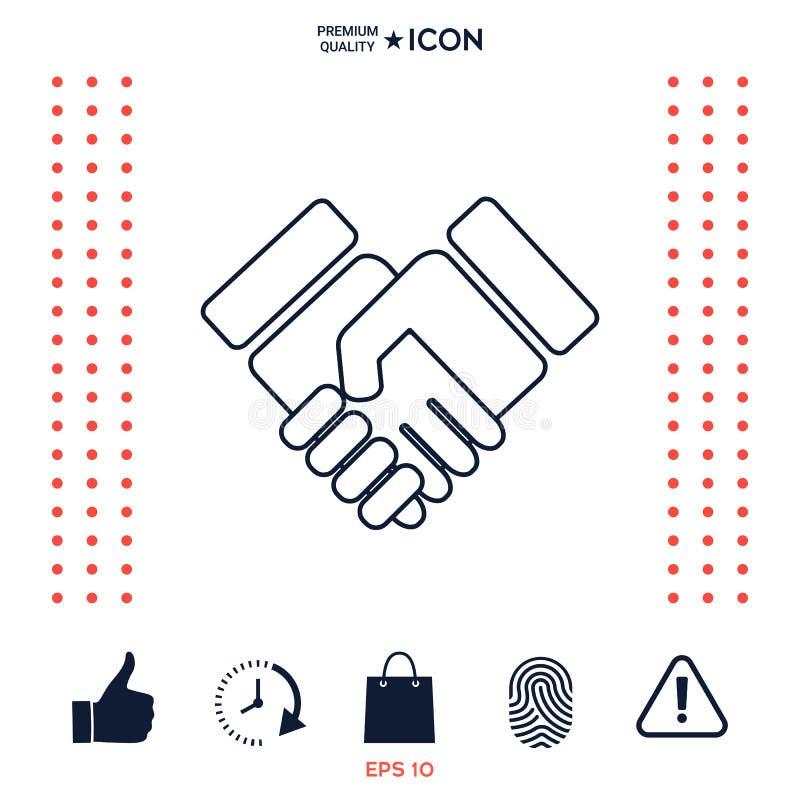 Download Icona Di Simbolo Della Stretta Di Mano Illustrazione Vettoriale - Illustrazione di businesswoman, rapporto: 117975528