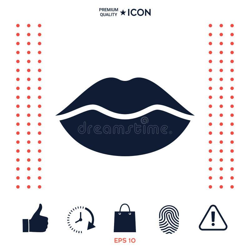 Download Icona Di Simbolo Delle Labbra Illustrazione Vettoriale - Illustrazione di background, parte: 117975830