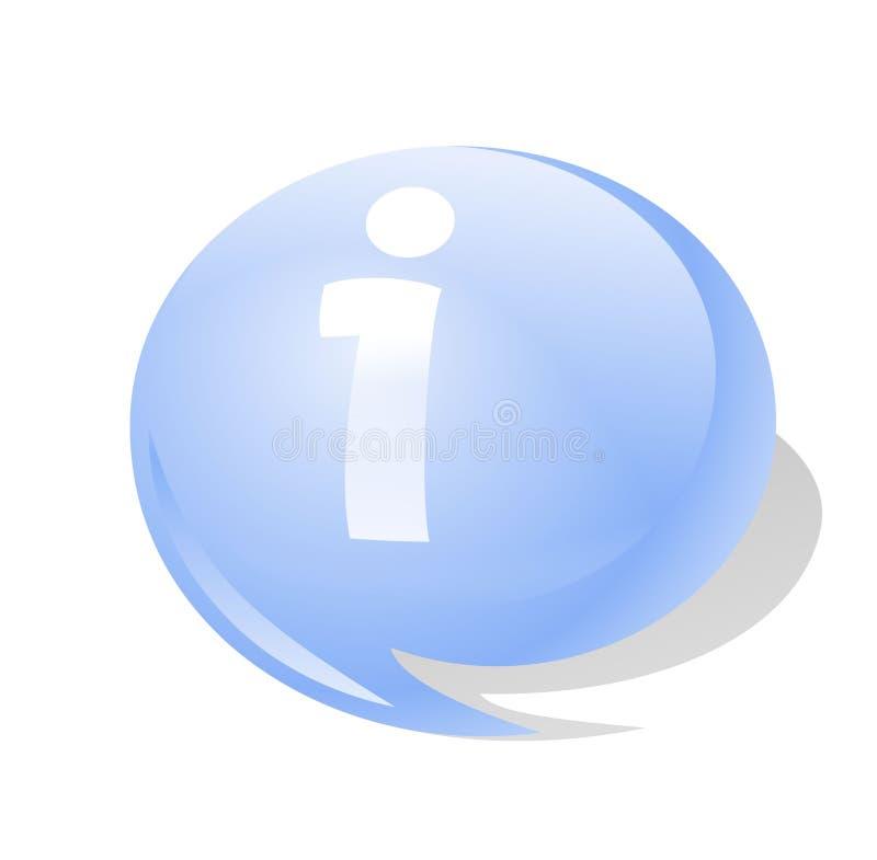 Icona di simbolo di Info illustrazione vettoriale