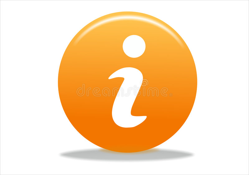Icona di simbolo di Info illustrazione di stock