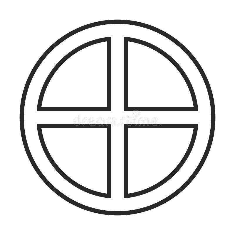 Icona di simbolo di paganesimo illustrazione vettoriale