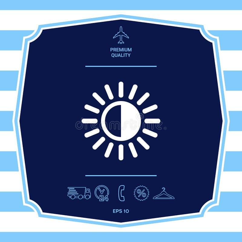 Icona di simbolo di luminosit? Elementi grafici per la vostra progettazione illustrazione di stock