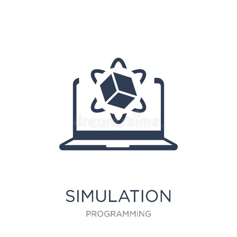 Icona di simulazione Icona piana d'avanguardia di simulazione di vettore sul BAC bianco royalty illustrazione gratis