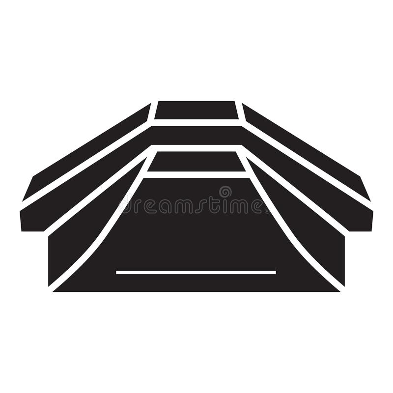Icona di Skatepark, stile semplice illustrazione vettoriale