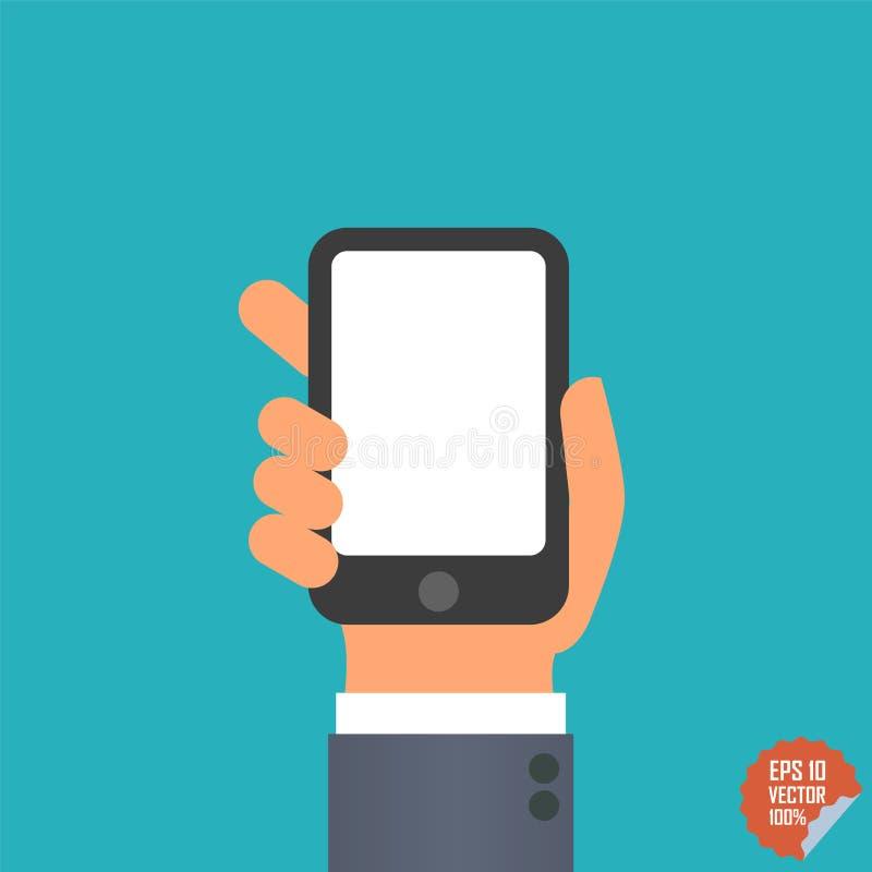 Icona di Smartphone a disposizione per l'applicazione del cellulare o del sito Web immagini stock libere da diritti