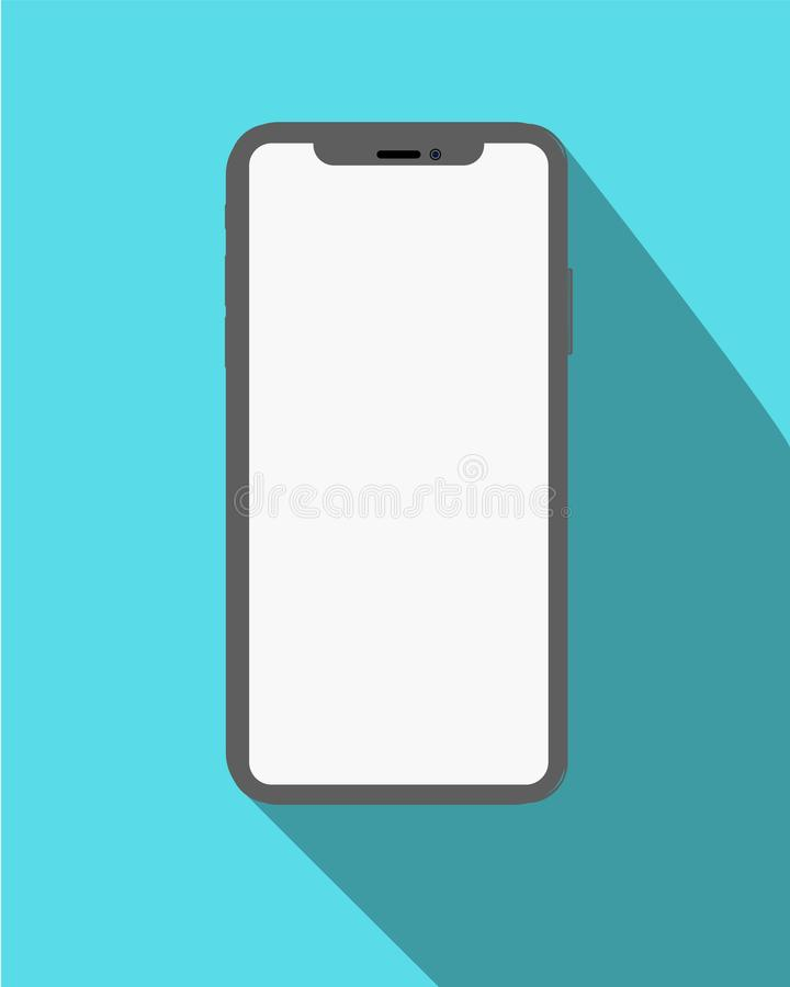Icona di Smartphone nella progettazione piana di stile sui precedenti gialli Illustrazione di riserva eps10 di vettore illustrazione di stock