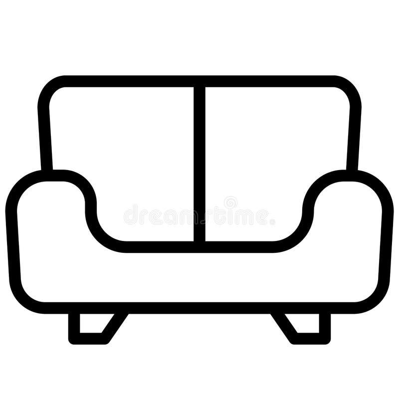 Icona di Sofa Isolated Vector che può essere facilmente di pubblicare o ha modificato illustrazione vettoriale