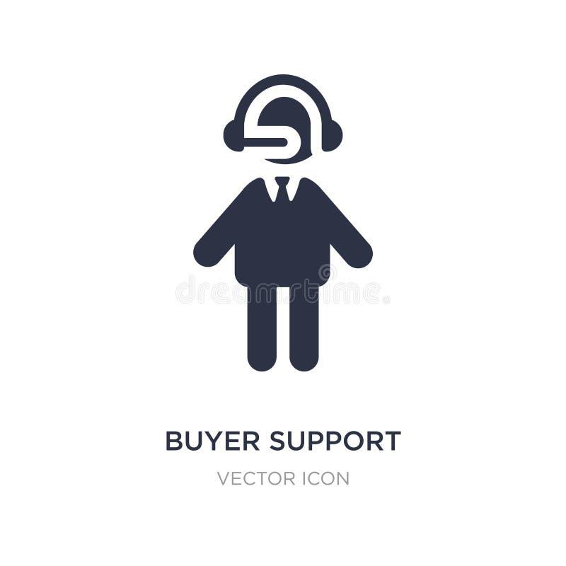 icona di sostegno del compratore su fondo bianco Illustrazione semplice dell'elemento dal concetto della gente illustrazione vettoriale