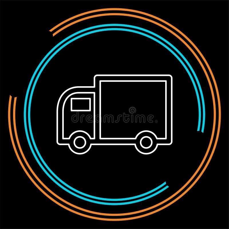 Icona di spedizione libera, illustrazione del camion di consegna illustrazione di stock
