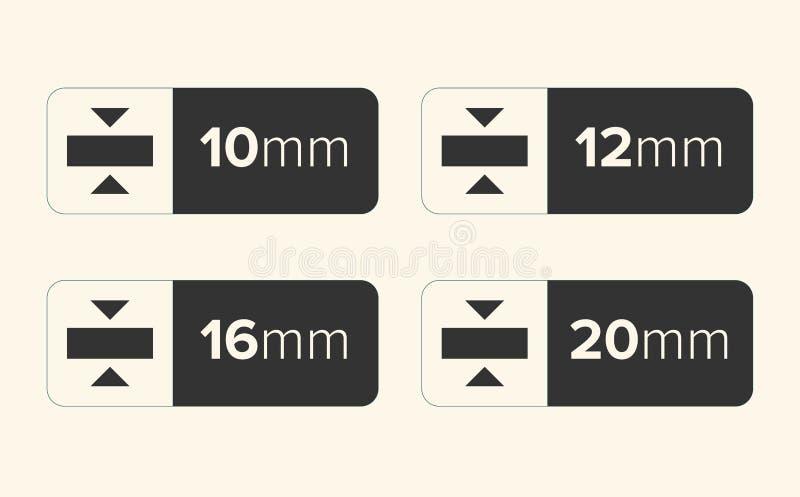 Icona di spessore, illustrazione di vettore di spessore - vettore illustrazione vettoriale