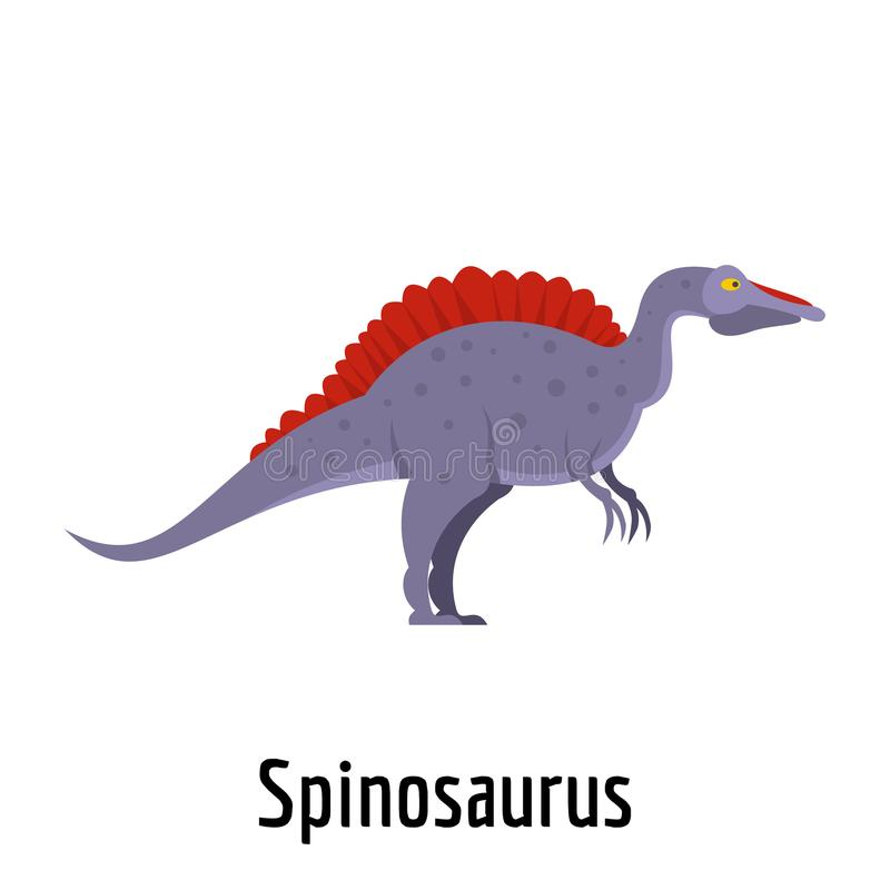 Icona di Spinosaurus, stile piano royalty illustrazione gratis