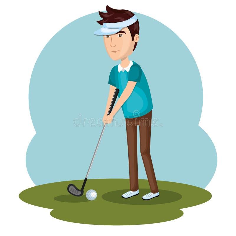 Icona di sport del club di golf royalty illustrazione gratis